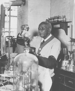 George Washington Carver in lab 2