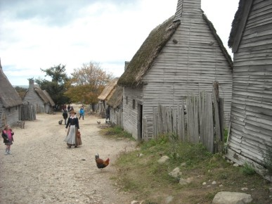 Plimoth Plantation recreates the Pilgrim settlement.