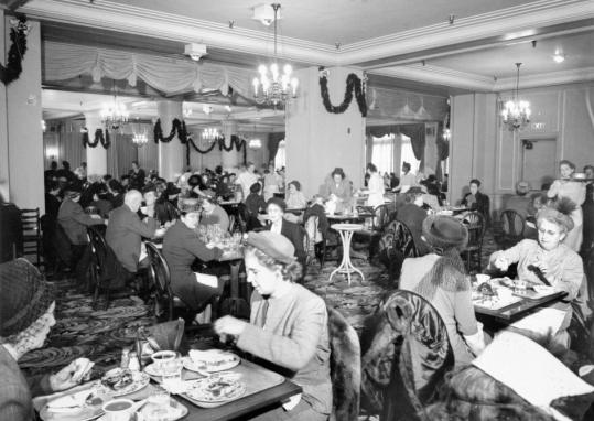 L.S. Ayres Tea Room in its heyday. Source: Indiana State Museum