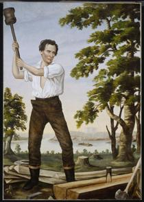A portrait for Lincoln's 1860 campaign. Source: Chicago History Museum
