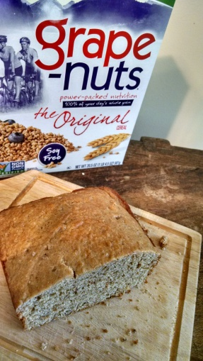 Grape Nuts bread w box
