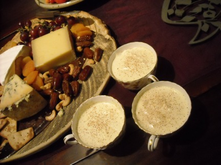 Egg Nog with nuts and cheese.JPG