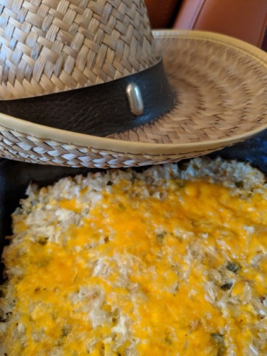Rice with cowboy hat